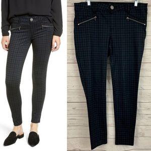 Wit & Wisdom ab-solution skinny ponte pants plaid